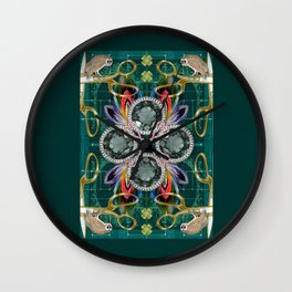 Four of Pentacles Wall Clock