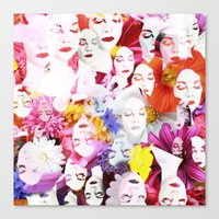 ultraviolence Canvas Prints featuring Ultraviolence by Kat Heroine