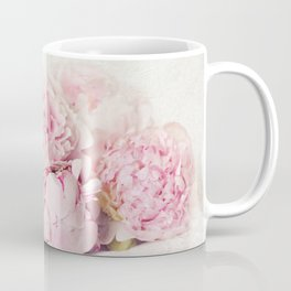 Peonies on white Coffee Mug