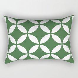Palm Springs Screen: Kelly Green Rectangular Pillow