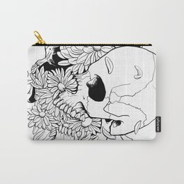 Skull (Pushing Up Daisies) Carry-All Pouch