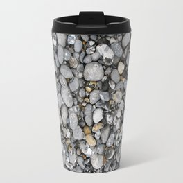 pebbles on the beach Travel Mug