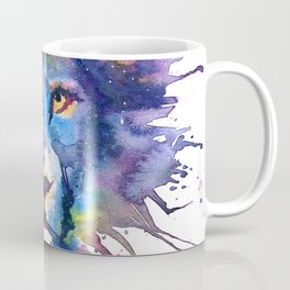 Watercolor Leo Zodiac Splatters Lion Coffee Mug