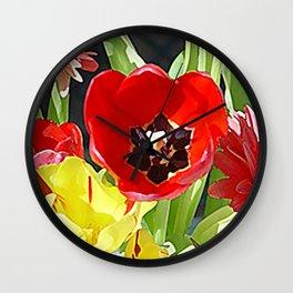 """Flower Vase"" Wall Clock"