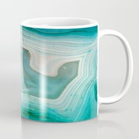 green Mugs featuring THE BEAUTY OF MINERALS 2 by Catspaws