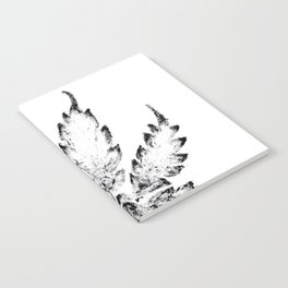 Black & White (Cannabis Resin Leaf) Notebook