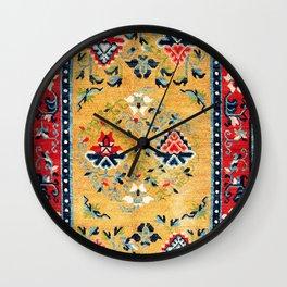 Shigatse Khaden South Tibetan Rug Print Wall Clock