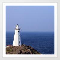 Blue Sky Lighthouse Art Print