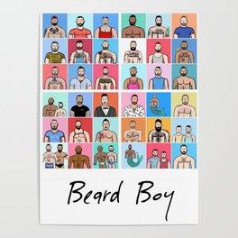 Beard Boy: Collage Poster