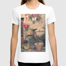 Vintage Bicycle Used As A Flower Pot, Provence T-shirt