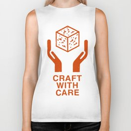 Craft With Care (Orange) Biker Tank