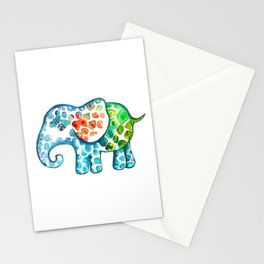 Rainbow Elephant Stationery Cards