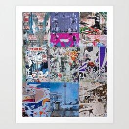Décollage'Random'Selection Art Print