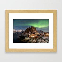 Northern Lights Over Hamnøy Framed Art Print