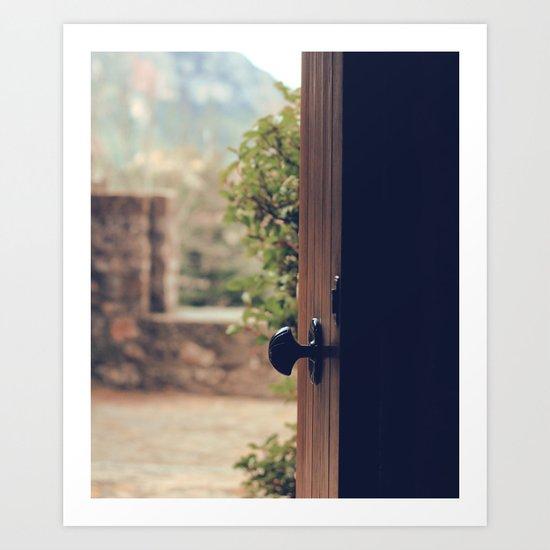 the door of the past Art Print