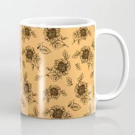 Vintage Sunflower Pattern  Coffee Mug