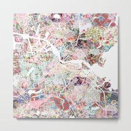 Amsterdam map Metal Print