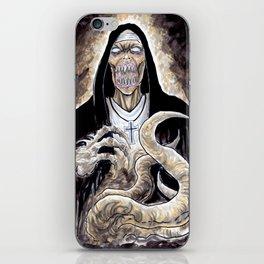 The Unholy Evil Nun Creature iPhone Skin