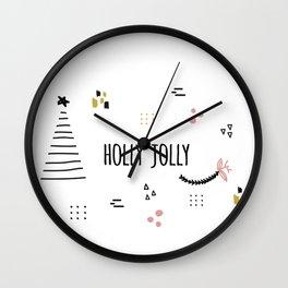 Minimal Holiday Designs :: Holly Jolly Wall Clock
