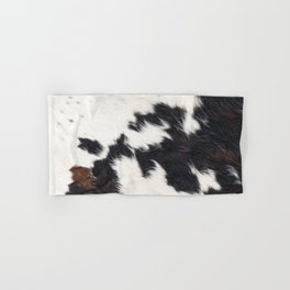 Brown Cowhide Hand & Bath Towel
