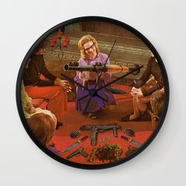 Aunt Daisy's Tea Party Wall Clock