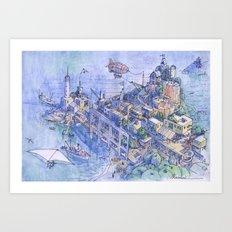 Paesaggio di fantasia 03 Art Print