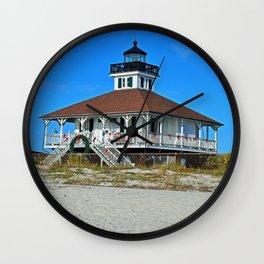 Boca Grande Lighthouse at Christmas Wall Clock