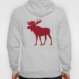 Moose: Rustic Red Hoody