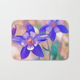 Colorado Columbine Flower Bath Mat