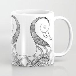 isolated duck line art illustration Coffee Mug