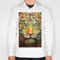 tiger Hoodies featuring Tiger by nicebleed