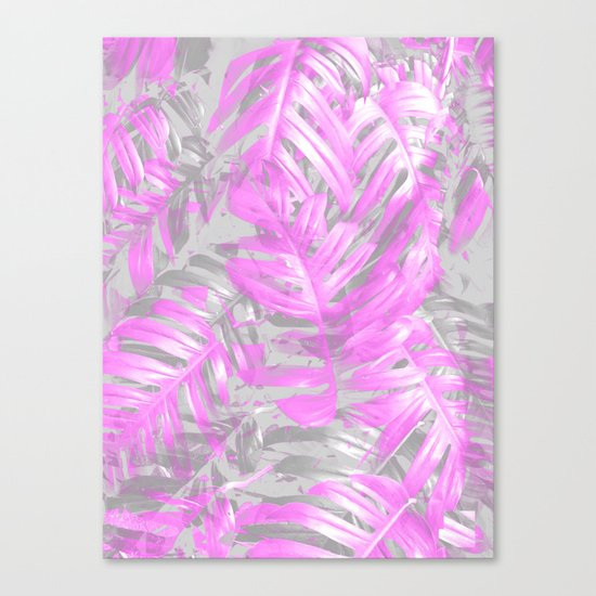 silver and musk, foliage Canvas Print