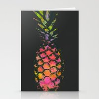 pineapple Stationery Cards featuring Pineapple by Georgiana Paraschiv