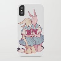 bunnies iPhone & iPod Cases featuring Bunnies by Starpatches
