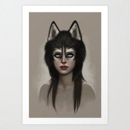 Husky Art Print