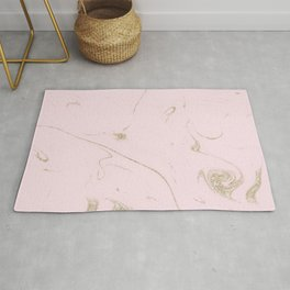 Luxe gold and blush marble image Rug