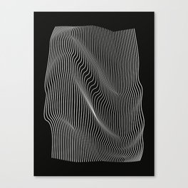 Minimal curves black Canvas Print