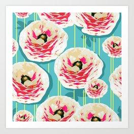 Summer Bloom #floral #pattern Art Print