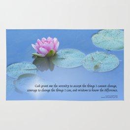 Serenity Prayer Pink Water Lily Rug