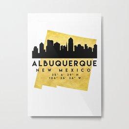 Albuquerque Map Skyline Metal Print