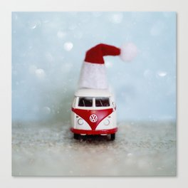 Vintage Bus Christmas Canvas Print