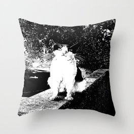 Street Cat I Throw Pillow