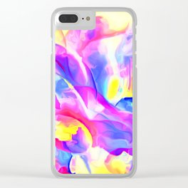 Floral Drama Abstract Clear iPhone Case