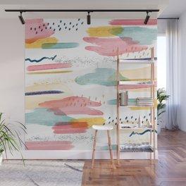 Fondo abstracto trazos pincel Wall Mural