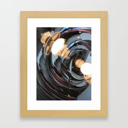 lighting reflects a circle, abstract smooth Framed Art Print