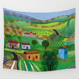 Santa Barbara Wine and Cheese Wall Tapestry