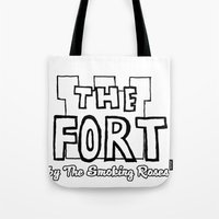 logo Tote Bags featuring Logo by The Fort by The Smoking Roses!