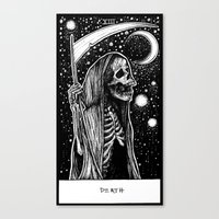 tarot Canvas Prints featuring Death Tarot by Corinne Elyse