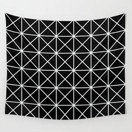 Geometric Pattern 155 (triangle grid) Wall Tapestry