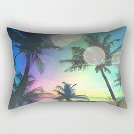 Summer Dreams : Pastel Palm Trees Rectangular Pillow